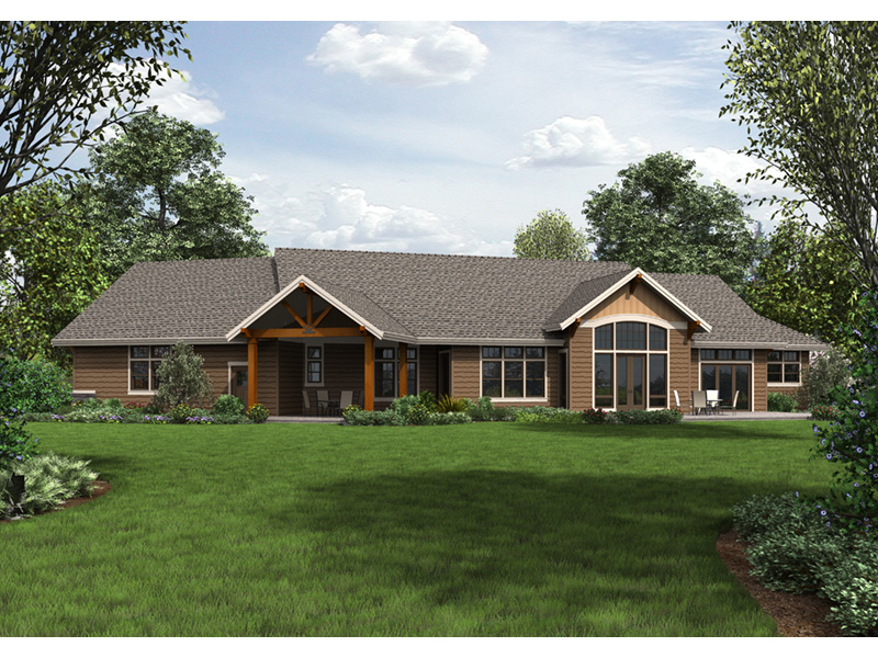 Rustic Home Plan Color Image of House - Leigh Lane Country Ranch Home 011D-0347 | House Plans and More