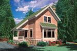 Lake House Plan Front of Home - Weslan Narrow Lot Home 011D-0358 | House Plans and More