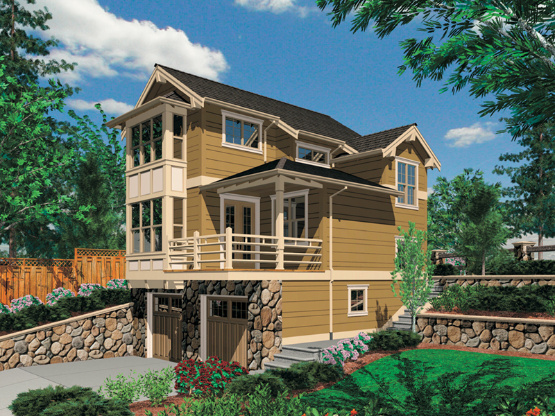 Waterfront House Plan Front of Home - 011D-0430 | House Plans and More