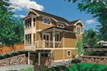 Lake House Plan Front of Home - 011D-0430 | House Plans and More