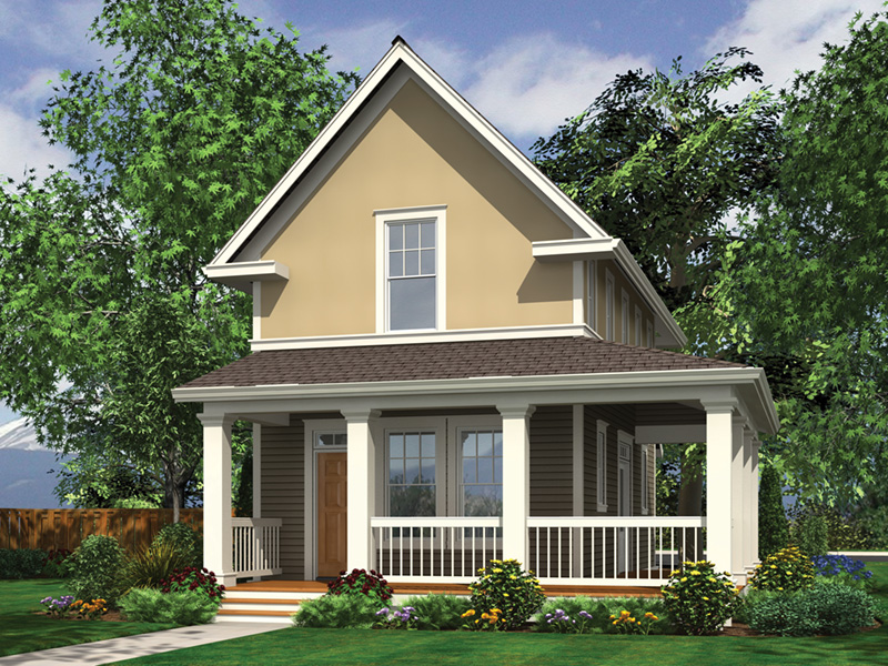 Cabin & Cottage House Plan Front Image - 011D-0446 | House Plans and More
