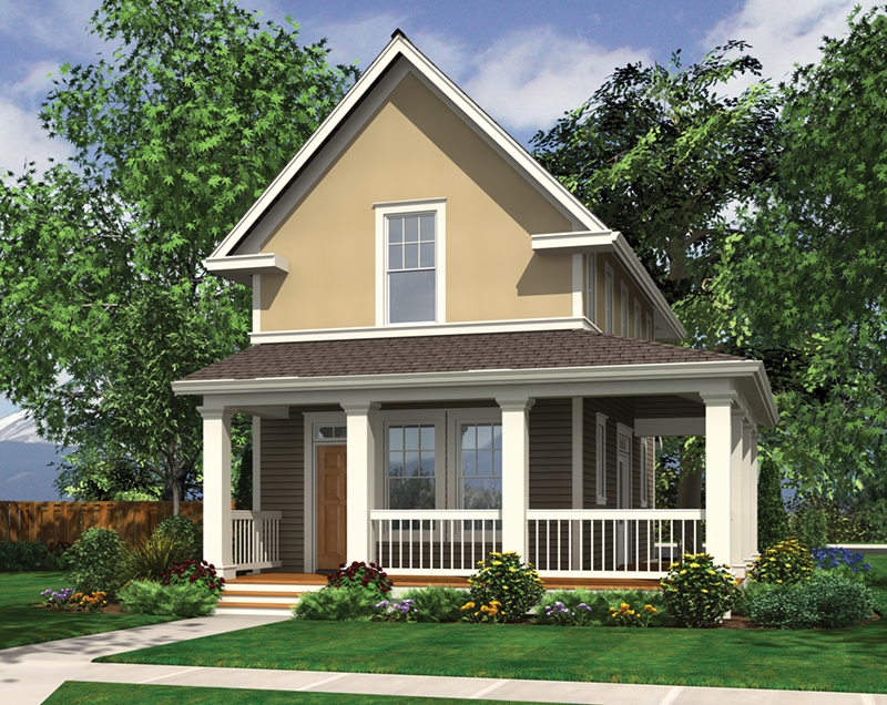 Cabin & Cottage House Plan Front of Home - 011D-0446 | House Plans and More
