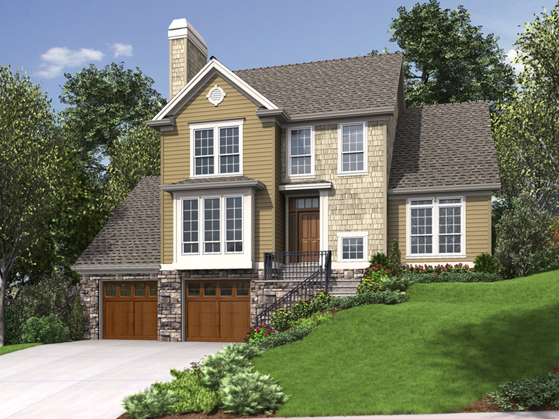 Traditional House Plan Front Photo 01 - 011D-0519 | House Plans and More