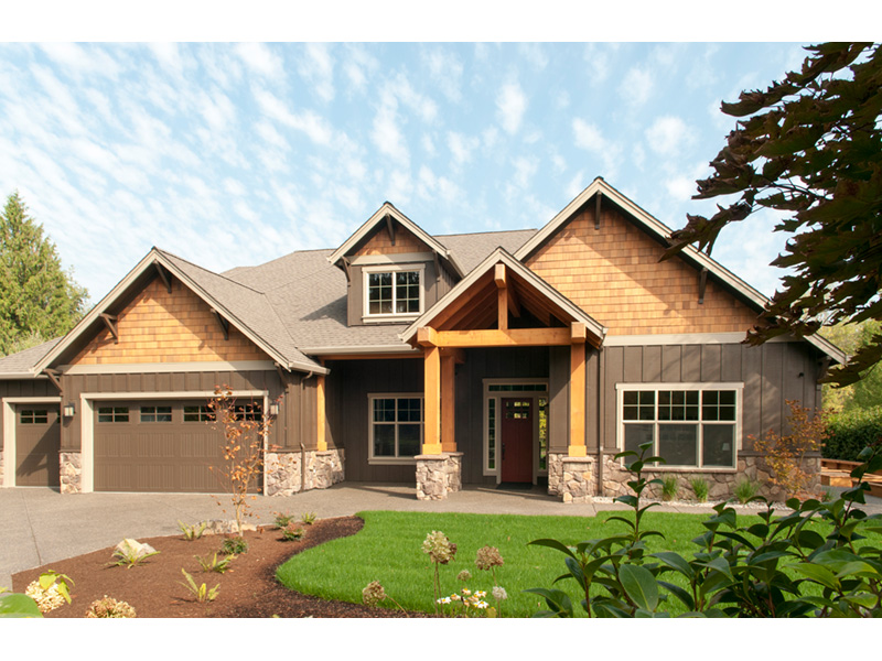 Rustic Home Plan Front Photo 03 - 011D-0526 | House Plans and More