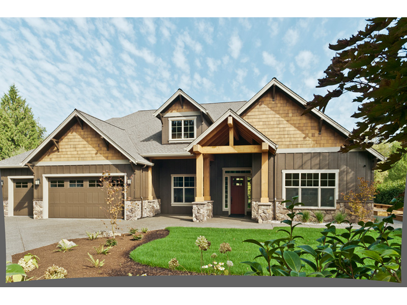 Mountain Home Plan Front Photo 06 - 011D-0526 | House Plans and More