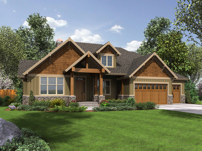 Rustic Home Plan Front Photo 08 - 011D-0526 | House Plans and More