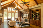 Rustic Home Plan Living Room Photo 01 - 011D-0526 | House Plans and More