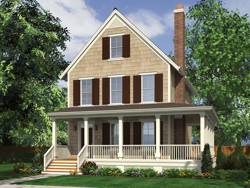 Farmhouse Plan Front Image - 011D-0542 | House Plans and More