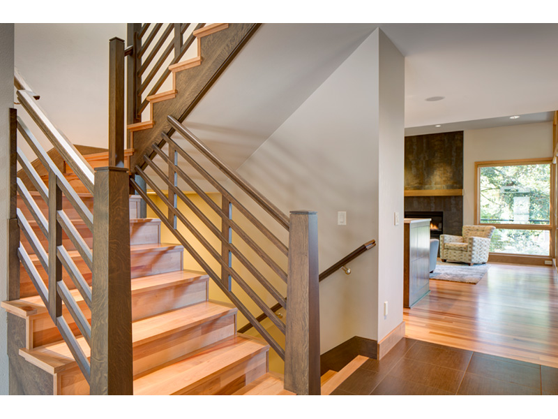 Contemporary House Plan Stairs Photo - Kamari Modern Home 011D-0588 | House Plans and More