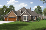 Neoclassical Home Plan Front of Home - 011D-0590 | House Plans and More