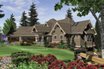 Craftsman House Plan Front Image - Cliffwood Trail Lodge Home 011S-0001 | House Plans and More