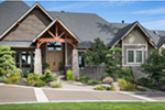 Craftsman House Plan Front Photo 07 - Cliffwood Trail Lodge Home 011S-0001 | House Plans and More