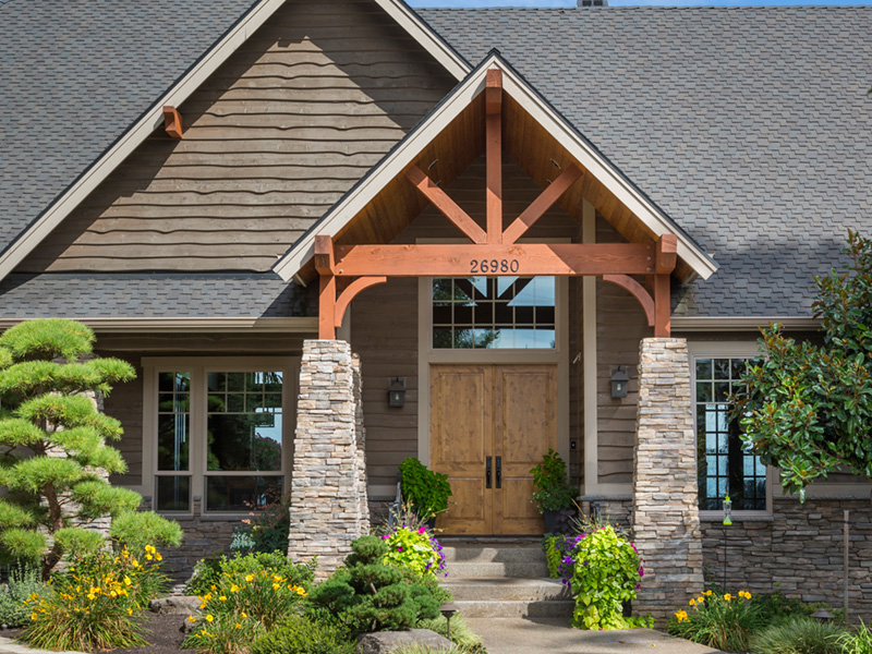 Craftsman House Plan Front Photo 09 - Cliffwood Trail Lodge Home 011S-0001 | House Plans and More