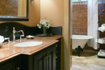 Luxury House Plan Guest Bathroom Photo - 011S-0001 | House Plans and More