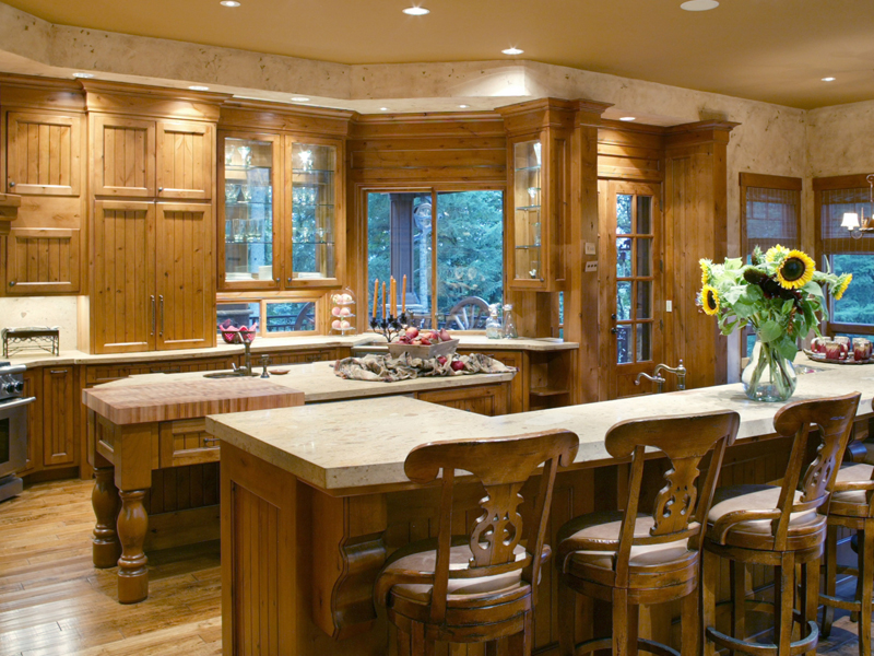 Luxury House Plan Kitchen Photo 02 011S-0001