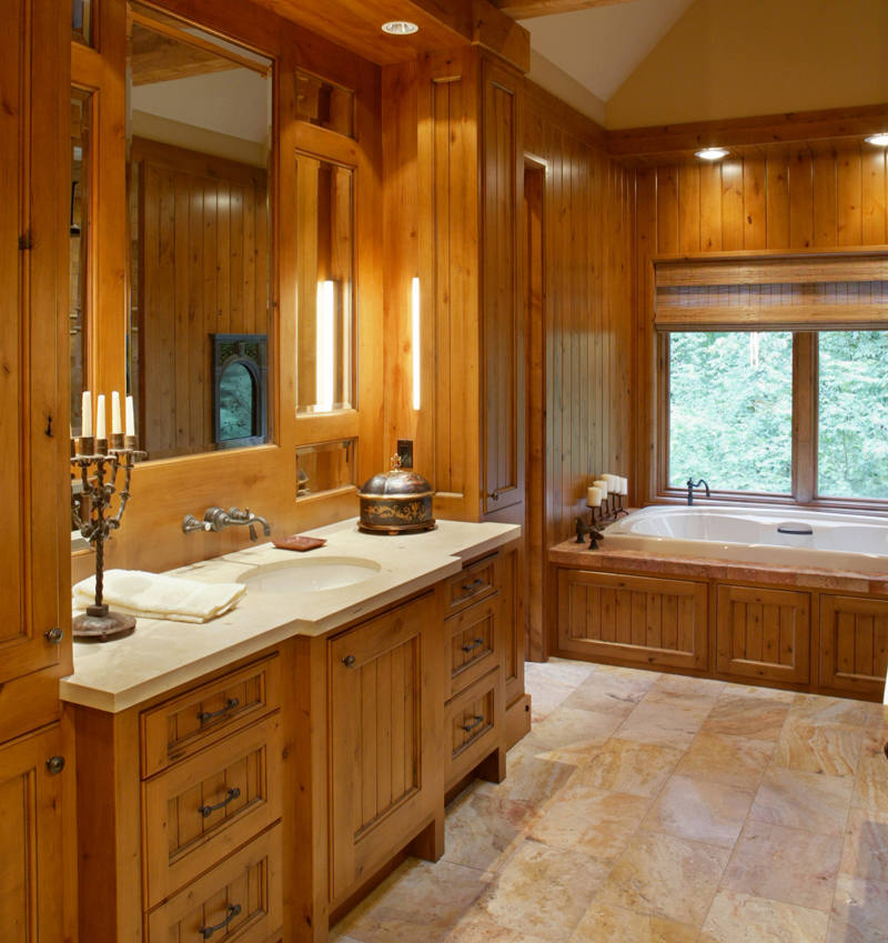 Craftsman Style Master Bathroom : Cliffwood trail lodge home plan s house plans