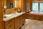 Luxury House Plan Master Bathroom Photo 02 - 011S-0001 | House Plans and More