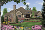 Craftsman House Plan Color Image of House - Cliffwood Trail Lodge Home 011S-0001 | House Plans and More