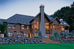 Craftsman House Plan Rear Photo 03 - Cliffwood Trail Lodge Home 011S-0001 | House Plans and More