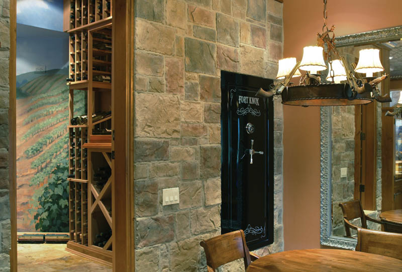 Ranch House Plan Wine Cellar Photo 011S-0001