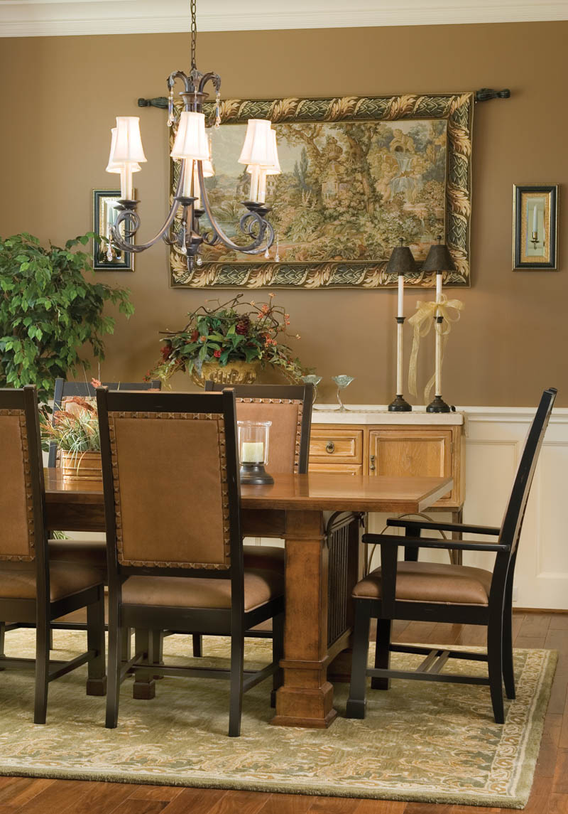 European House Plan Dining Room Photo 03 011S-0002