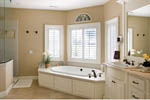 European House Plan Master Bathroom Photo 02 - 011S-0002 | House Plans and More