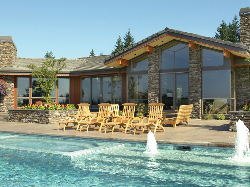 Ranch House Plan Pool Photo 011S-0003
