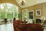 European House Plan Great Room Photo 02 - 011S-0004 | House Plans and More