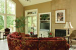 European House Plan Great Room Photo 03 - 011S-0004 | House Plans and More