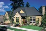 European House Plan Front of Home - 011S-0012 | House Plans and More