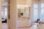 European House Plan Master Bathroom Photo 01 - 011S-0015 | House Plans and More