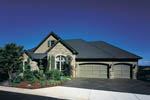 European House Plan Front of Home - 011S-0016 | House Plans and More