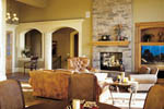 Country French Home Plan Great Room Photo 01 - 011S-0016 | House Plans and More