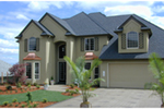 European House Plan Front of Home - 011S-0028 | House Plans and More