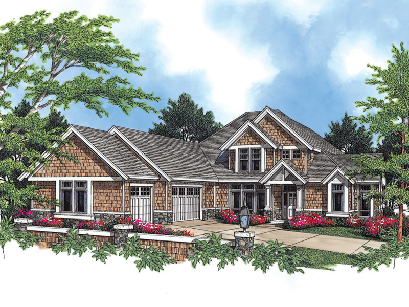 Arts & Crafts House Plan Front Image -  011S-0032 | House Plans and More