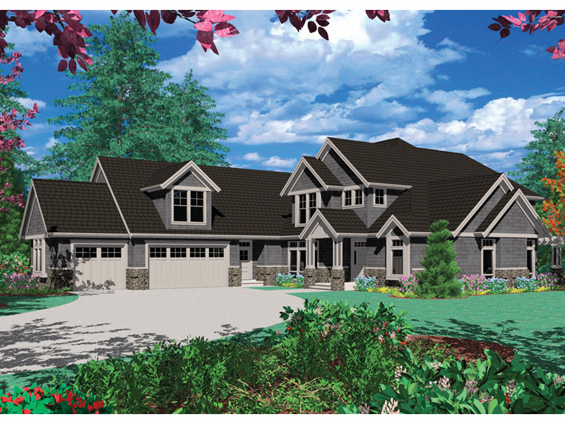 Craftsman House Plan Front Image - 011S-0033 | House Plans and More