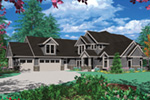 Luxury House Plan Front Image - 011S-0033 | House Plans and More