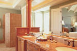 European House Plan Master Bathroom Photo 01 - 011S-0036 | House Plans and More