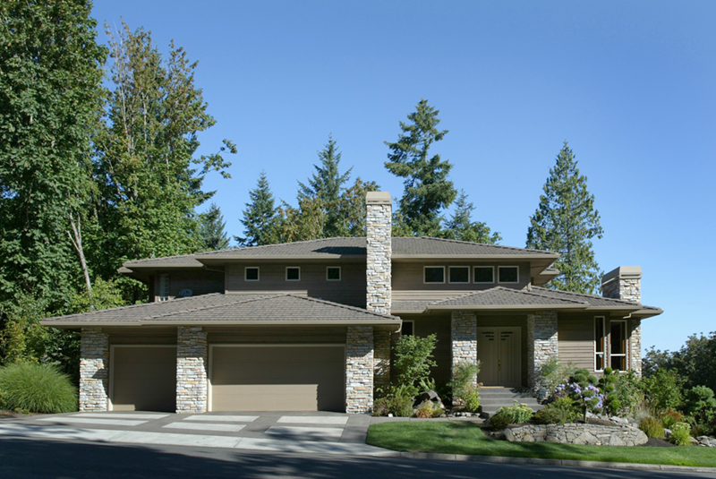 Prairie Style Floor Plan Front of Home 011S-0050