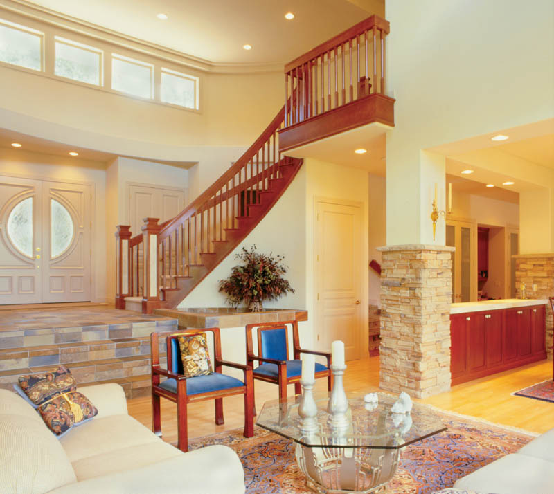 Prairie Style Floor Plan Great Room Photo 02 011S-0050