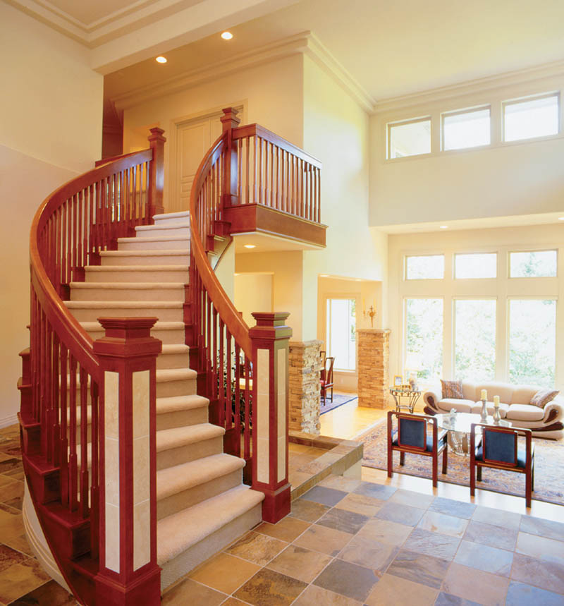 Arts and Crafts House Plan Stairs Photo - 011S-0050 | House Plans and More