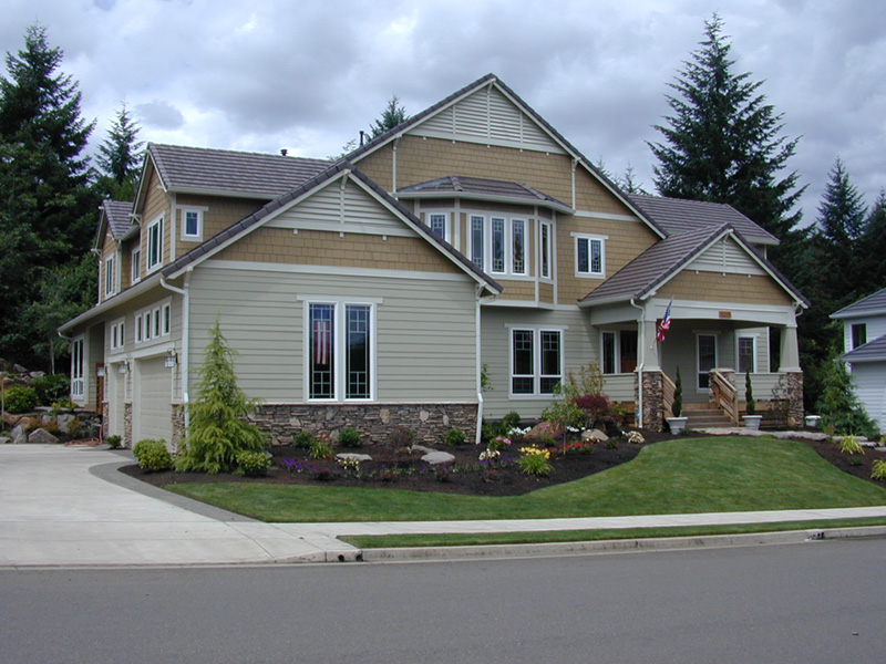 Craftsman House Plan Front Photo 03 011S-0055