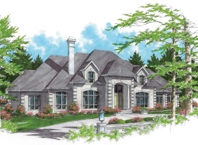 Traditional House Plan Front of Home -  011S-0056 | House Plans and More