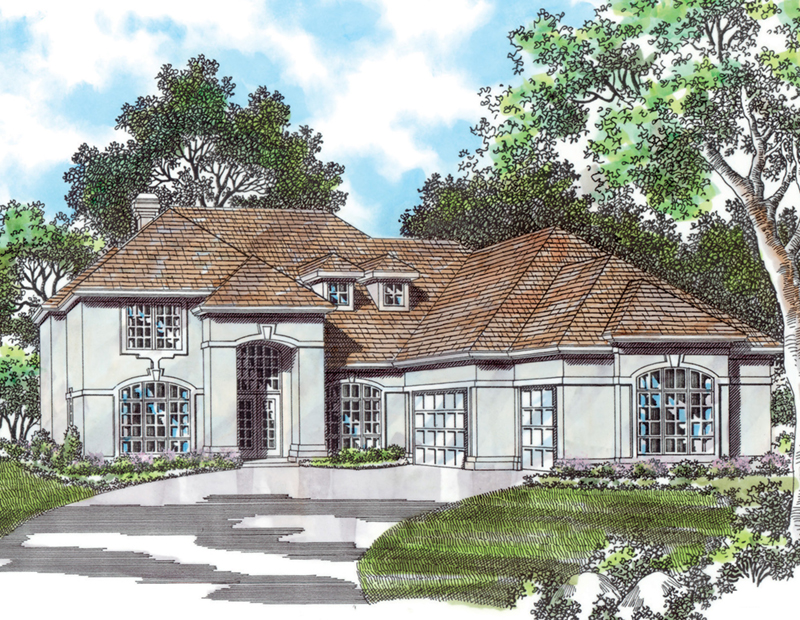 European House Plan Front of Home -  011S-0060 | House Plans and More
