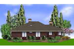 Prairie Style Floor Plan Rear Photo 01 - 011S-0067 | House Plans and More