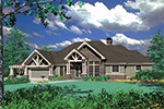 Arts & Crafts House Plan Front Image -  011S-0069 | House Plans and More