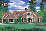 Luxury House Plan Front Image -  011S-0073   House Plans and More