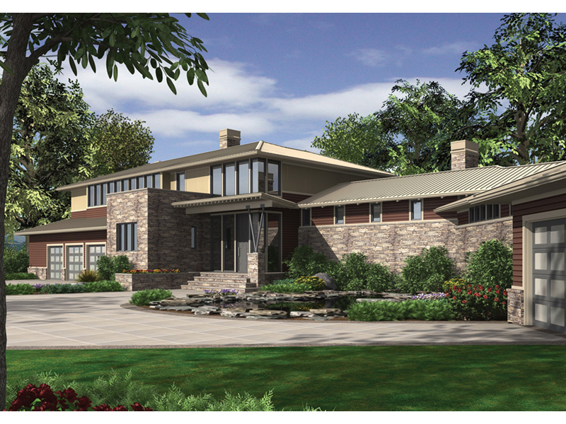 Contemporary House Plan Front Image - 011S-0085 | House Plans and More