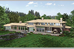 Contemporary House Plan Color Image of House - 011S-0085 | House Plans and More