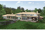 Contemporary House Plan Rear Photo 03 - 011S-0085 | House Plans and More